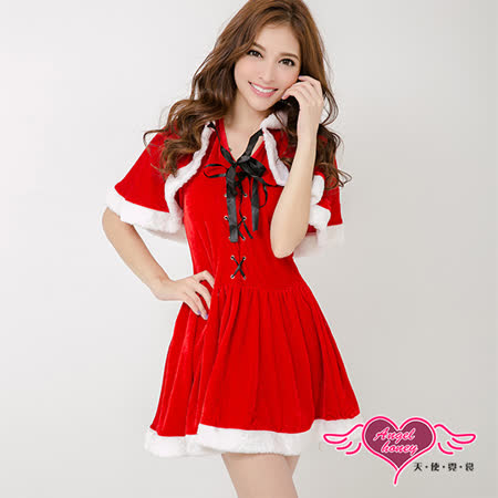 【天使霓裳】聖誕小紅帽 狂熱聖誕舞會 耶誕服 角色服(紅)