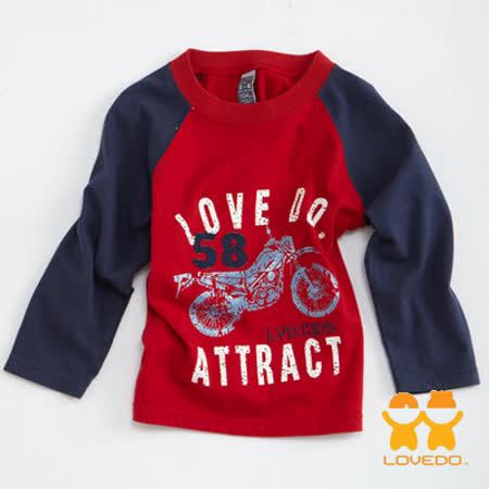 【LOVEDO-艾唯多童裝】ATTRTCT小騎士 棒球T恤(紅)