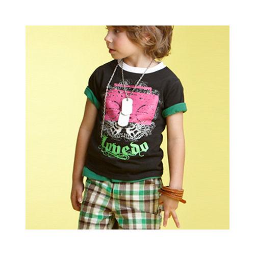 【LOVEDO-艾唯多童裝】個性休閒 格紋短褲(綠)