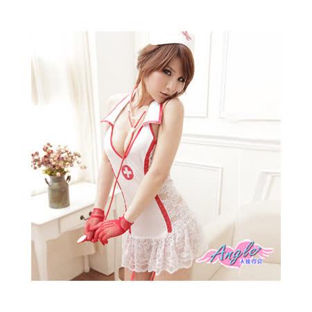 【天使霓裳】戀愛診療室 護士服 角色扮演 七件組(白)