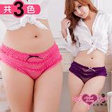 【天使霓裳】浪漫紫玫瑰 可愛日系三角內褲 蛋糕褲(共2色)