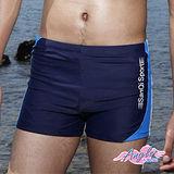 [天使霓裳]夏X潮流 簡單風格平口四角泳褲(藍)