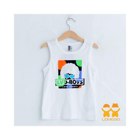 【LOVEDO-艾唯多童裝】舞力全開背心 (白)