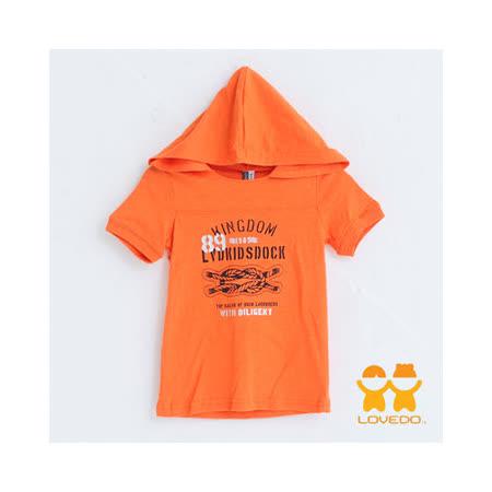 【LOVEDO-艾唯多童裝】航海水手經典帽T (亮橘)