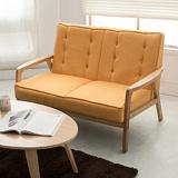 【日安家居】Muffin濃情瑪芬原木扶手椅/雙人布沙發(共3色)