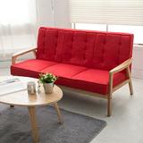 【日安家居】Muffin濃情瑪芬原木扶手椅/三人布沙發(共3色)