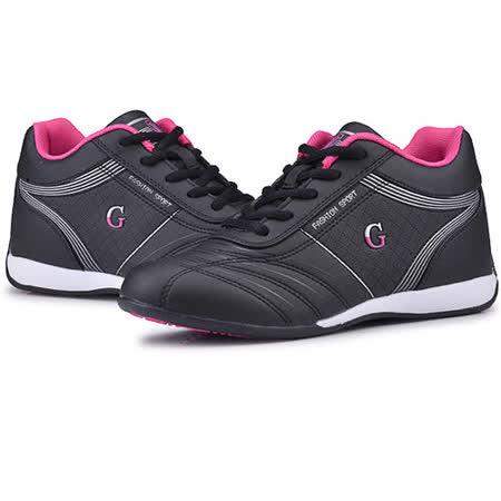 USA APPLE美國蘋果款5596黑玫紅正品女士運動鞋滑板鞋旅遊鞋氣墊鞋休閒鞋登山鞋