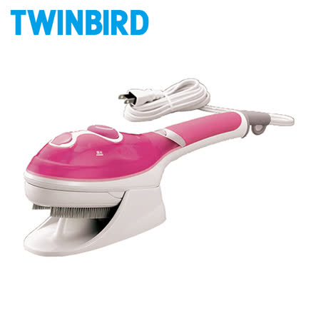 日本TWINBIRD手持式蒸氣熨斗SA-4084TW(粉色)