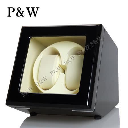 【P&W手錶上鍊盒】 【木質鋼琴烤漆】 【玻璃鏡面】2支裝 四種模式 機械錶專用