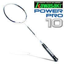 Kawasaki Power PRO 10 奈米碳纖維超輕羽球拍(空拍)-藍