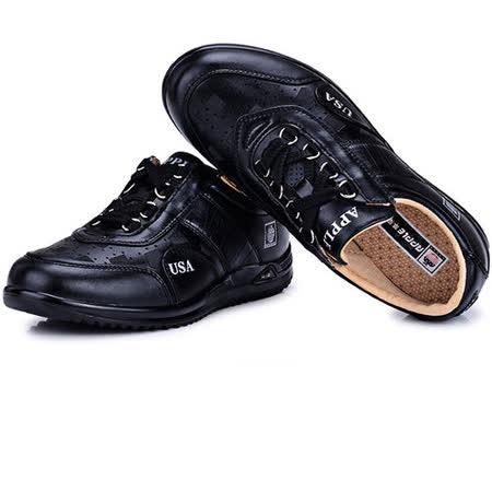 USA APPLE美國蘋果款8470黑色正品男士運動鞋滑板鞋旅遊鞋氣墊鞋休閒鞋登山鞋