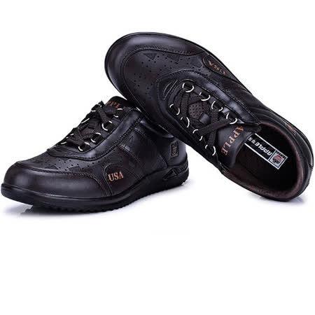 USA APPLE美國蘋果款8470深棕色正品男士運動鞋滑板鞋旅遊鞋氣墊鞋休閒鞋登山鞋