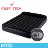 【INTEX】舒適型內建電動幫浦充氣床墊-雙人加大寬152cm-有頭枕