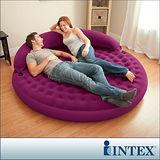 【INTEX】雙人圓床兩用(戲水/居家)-附靠背充氣床(直徑寬191cm)