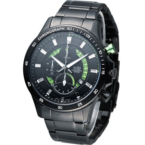 雅柏 ALBA 疾速奔馳計時腕錶 YM92~X257G AF8S81X1