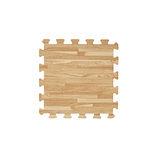 【新生活家】EVA耐磨拼花木紋地墊-淺色32x32x1cm30入
