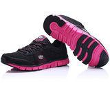 USA APPLE美國蘋果款8729黑玫紅正品女士運動鞋滑板鞋旅遊鞋氣墊鞋休閒鞋登山鞋