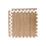 【新生活家】EVA耐磨櫸木紋地墊-淺色45x45x1.2cm12入(附邊條)