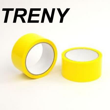 R- 膠帶類–TRENY 超值OPP黃色膠帶-48MM*50Y(2入裝)-7746