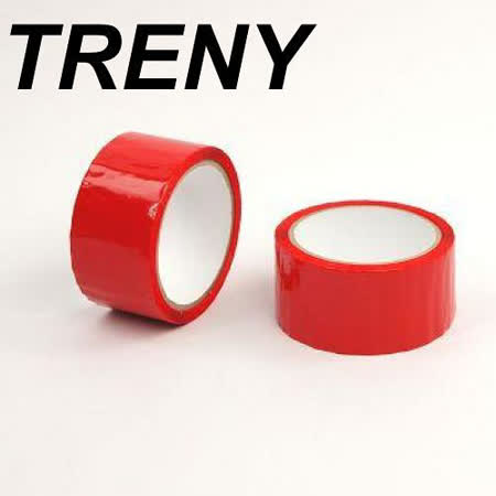 R- 膠帶類–TRENY 超值OPP紅色膠帶-48MM*50Y(2入裝)-7753