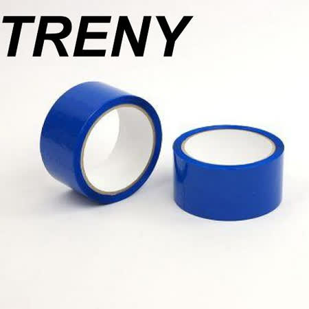R- 膠帶類–TRENY 超值OPP藍色膠帶-48MM*50Y(2入裝)7760