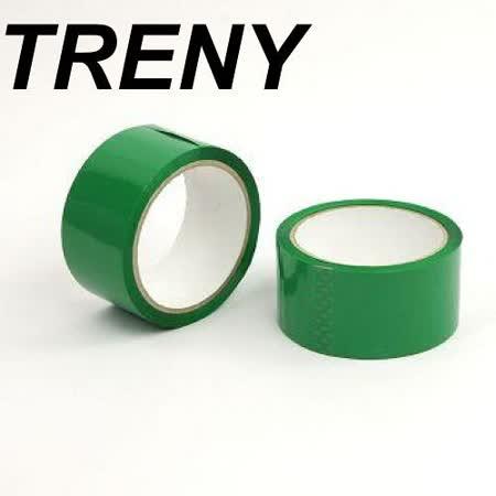 R- 膠帶類–TRENY超值OPP綠色膠帶-48MM*50Y(2入裝)-7777