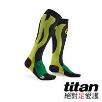 Titan壓力運動襪Elite-黑/綠