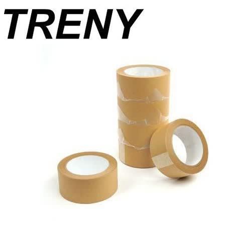 R- 膠帶類–TRENY 超值PVC牛皮紙膠帶48MM*40Y-6入裝(8101)