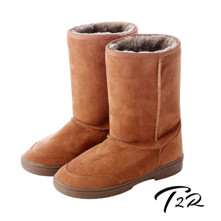 【韓國T2R】秋冬韓系女孩必備經典款內裡毛茸茸雪靴 內增高↑7cm 棕 5500-0619 (原裝進口)
