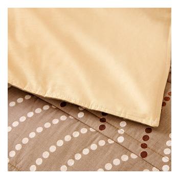 FOCA《100%精梳純棉》MIT雙人六件式兩用被床罩組(棕情草原)