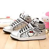 三麗鷗-Hellokitty大童時尚教主限量中統帆布鞋台灣製913023