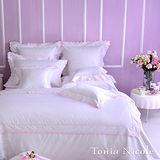 東妮寢飾☆蘭姆蕾森(草莓粉)☆高紗支-加大被套床包組