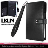 【韓國原裝潮牌 LKUN】Samsung Galaxy S4 潮流風保護皮套 100%高級牛皮皮套 (黑)