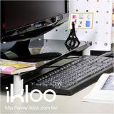 N 整理收納 IKLOO宜酷屋鍵盤上架-黑色-9156 桌上型鍵盤收納架