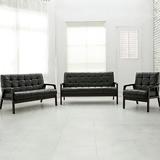 【日安家居】GODYVA葛第法古著風實木扶手椅/1+2+3皮沙發組