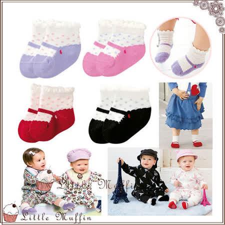 歐美 芭蕾舞鞋感鞋型襪 寶寶止滑襪 防滑爬襪 室內襪 四雙一組