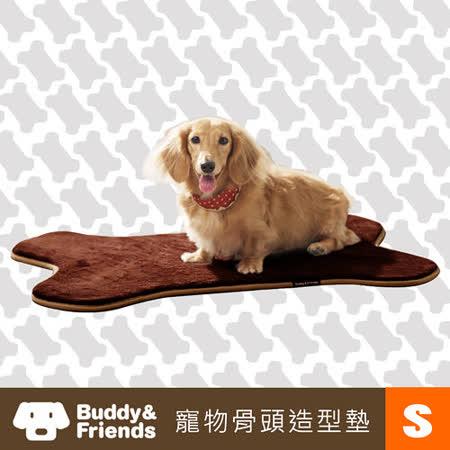 【Buddy&Friends】寵物骨頭造型墊(深咖啡/S)