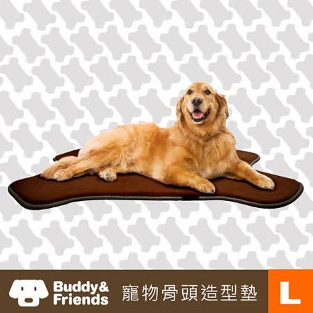 【勸敗】gohappy快樂購物網【Buddy&Friends】寵物骨頭造型墊(深咖啡/L)效果如何愛 買 永福