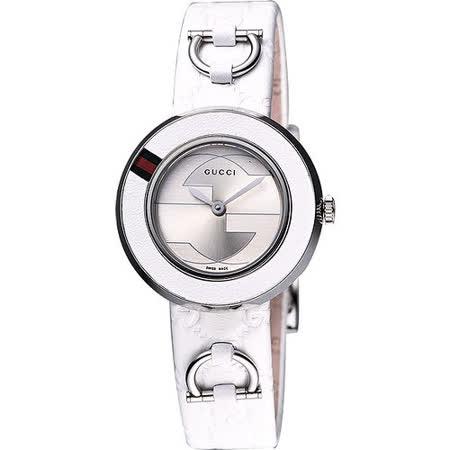 【私心大推】gohappy 線上快樂購GUCCI U-Play 系列 G&G時尚女錶-白 YA129509價格sogo 聯名 卡