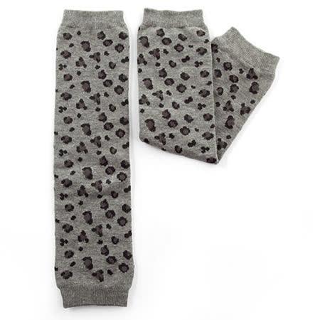 日本Leg'Woo襪套-豹豹紋(暖灰)