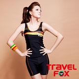 【TRAVELFOX 旅狐】長版兩件式泳衣C11708