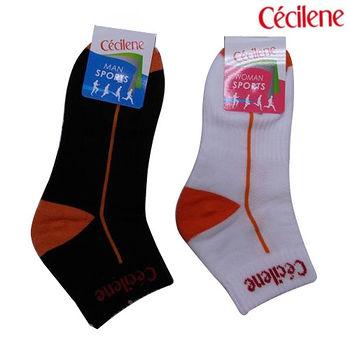 CECILENE1/4毛巾氣墊運動襪(25~27cm)