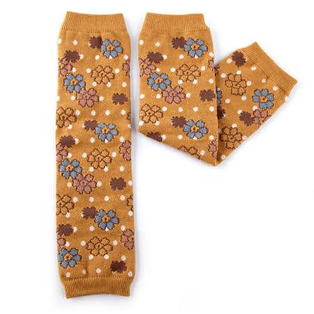 日本Leg'Woo襪套-點點花朵(焦糖)