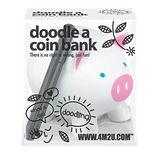 【4M】Doodle a Coin Bank-Piggy 塗鴉小豬 /存錢筒 (白色)