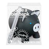 【4M】Doodle a Coin Bank-Piggy 塗鴉小豬 /存錢筒 (黑色)