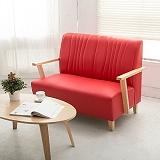 【日安家居】Phramei法爾米原木扶手椅/雙人皮沙發(共3色)