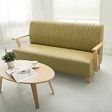 【日安家居】Phramei法爾米原木扶手椅/三人皮沙發(共3色)