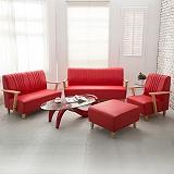 【日安家居】Phramei法爾米原木扶手椅/1+2+3皮沙發+腳椅(共3色)