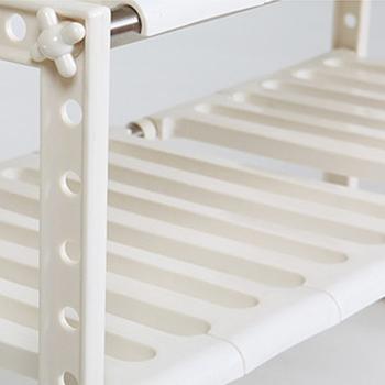 日式多用伸縮收納層架2件組