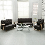 【日安家居】Phramei法爾米原木扶手椅/1+2+3皮沙發組(共3色)
